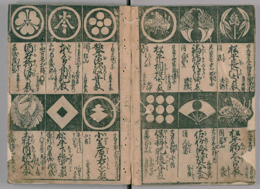 Figure 1. Gomonzukushi, printed in 1656. Digital Collection of National Diet Library.
